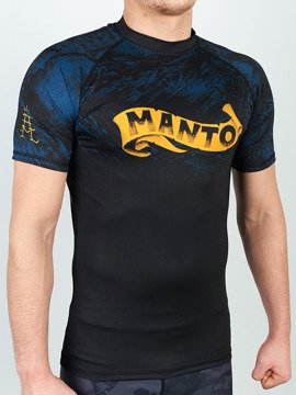 MANTO short sleeve rashguard PERFECT STORM czarny