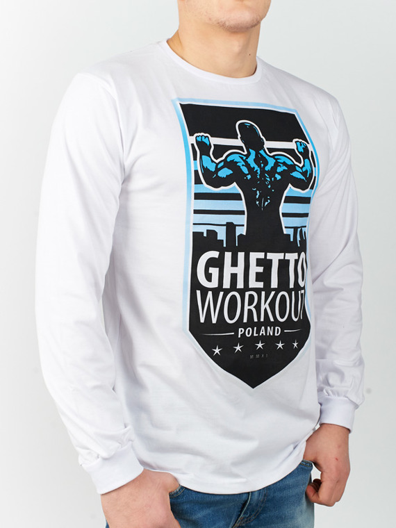 MANTO longsleeve GHETTO WORKOUT biały