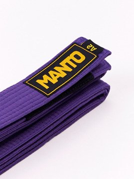 MANTO pas do BJJ LOGOTYPE purpurowy