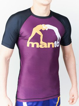 MANTO short sleeve rashguard CLASSIC purpurowy
