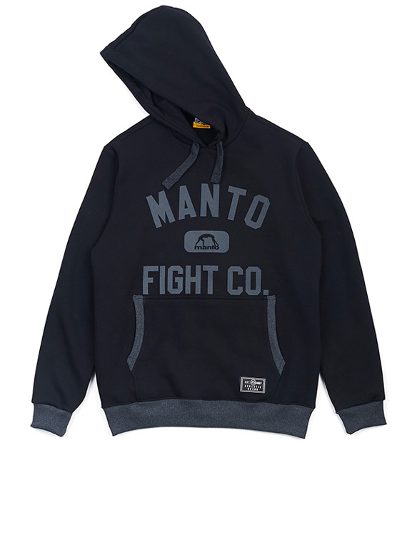 MANTO bluza z kapturem FIGHT CO czarna