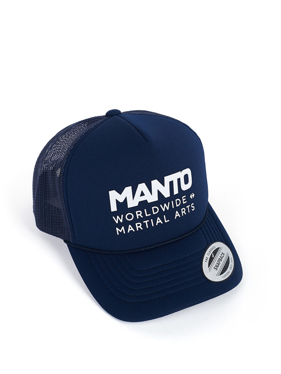 MANTO czapka WORLD truckerka granatowa