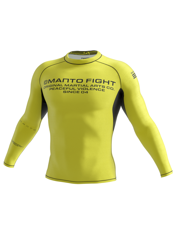 MANTO long sleeve rashguard FUTURE żółty