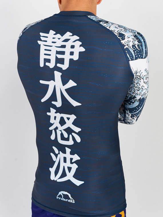 MANTO long sleeve rashguard WAVES granatowy