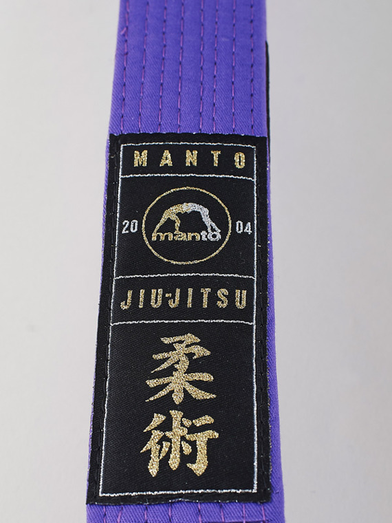MANTO pas do BJJ PREMIUM purpurowy