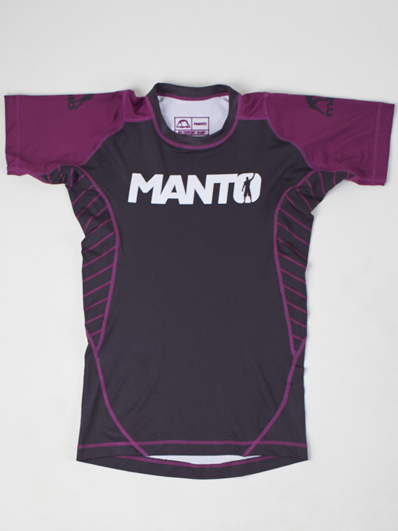 MANTO short sleeve rashguard CHAMP czarno-purpurowy