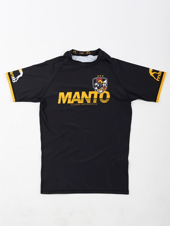 MANTO short sleeve rashguard KICKASS czarny