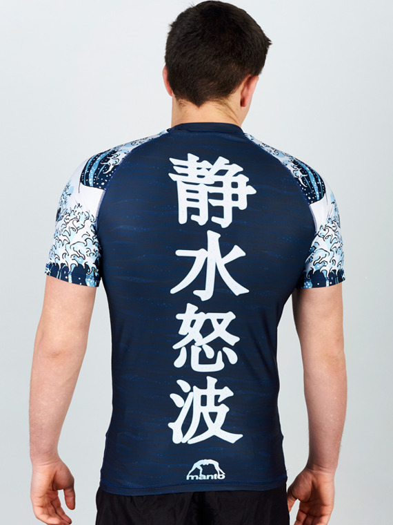 MANTO short sleeve rashguard WAVES granatowy