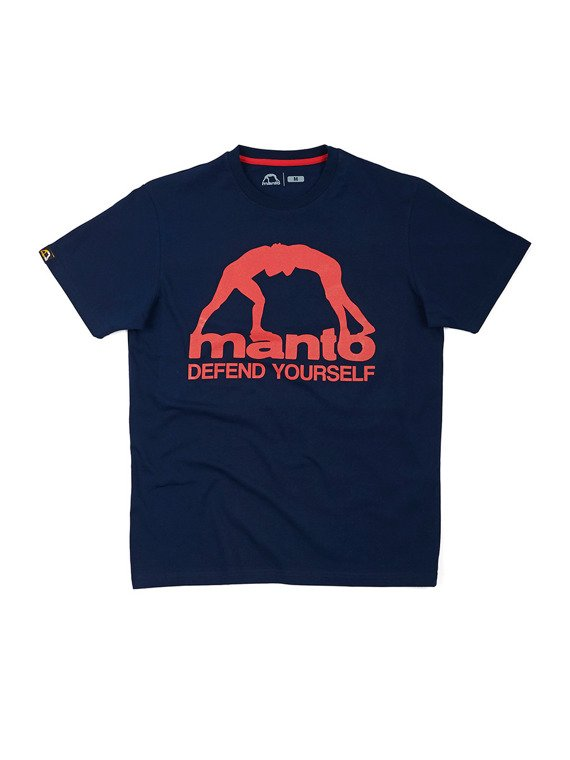 MANTO t-shirt DEFEND YOURSELF granatowy