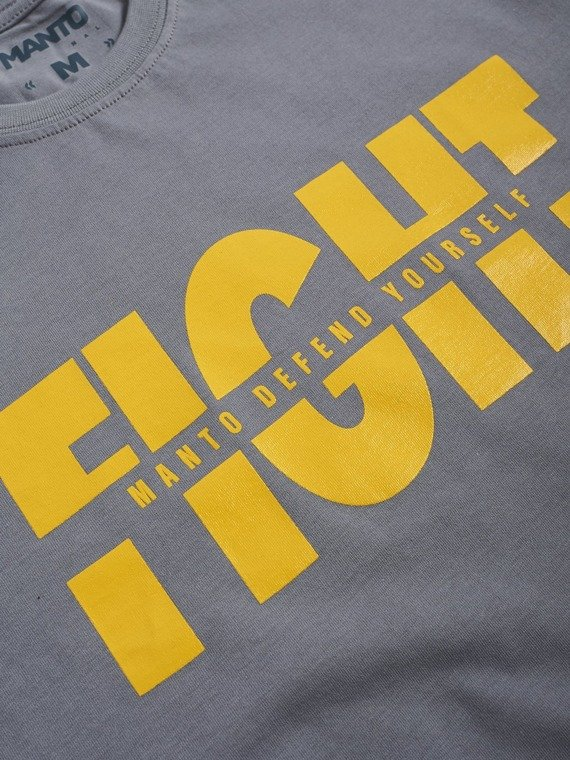 MANTO t-shirt FIGHT szary