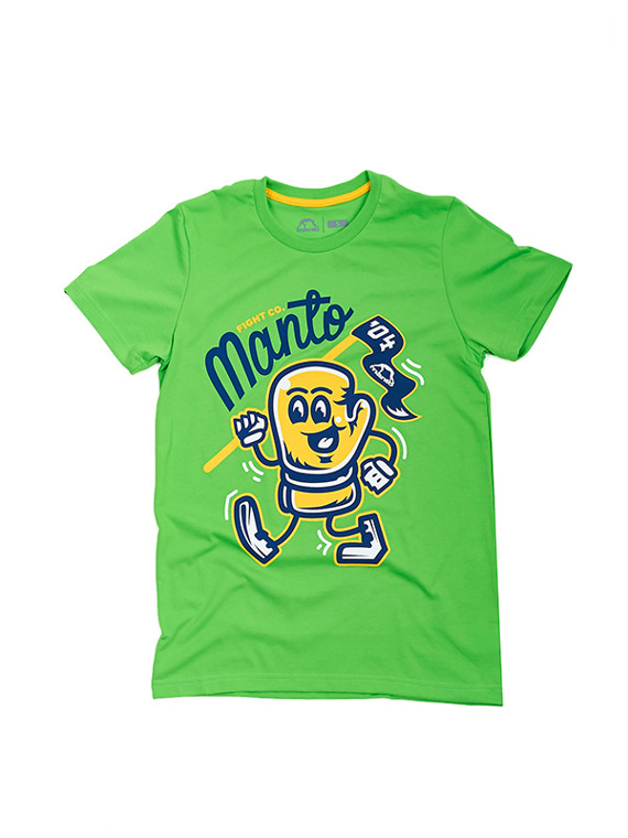 MANTO t-shirt GLOVE zielony