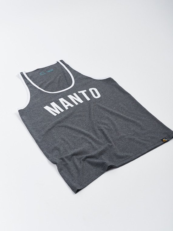 MANTO tank top ARC grafitowy