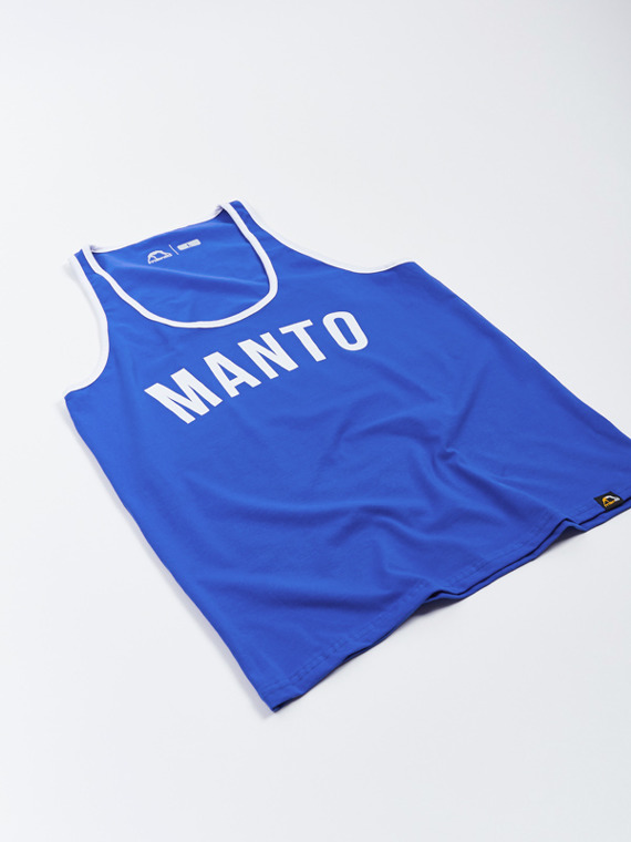 MANTO tank top ARC szafirowy