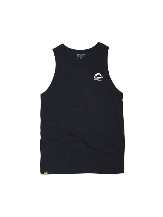 MANTO tank top STAMP czarny