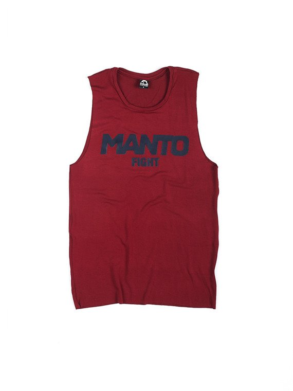 MANTO tanktop t-shirt FIGHT bordowy